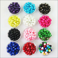 New Charms Glass Pearl Solid Round Ball Loose Spacer Beads Mixed 4mm 6mm 8mm