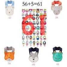 Baby Kids Infant Cartoon Animal Saliva Towel Toddler Waterproof Lunch Bibs Hot
