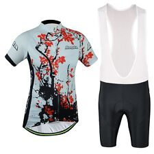 Women's AOGDA China Style Plum Fashion Cycling Jerseys Sets+Bib Shorts Sets