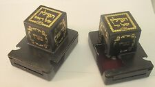 Tefillin Boxes Plastic - Black / Silver - Right / Left