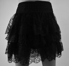 New Fashion Women Pleated Floral Lace Summer Cute Polyester Mini Short Skirt