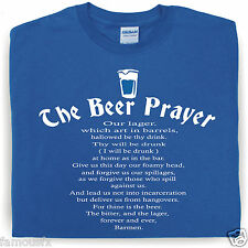 BEER PRAYER funny drinking t-shirt pub joke drink booze slogan gift famousfx