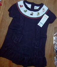 Knit Dress Purple Gymboree Yorkie Toddler Girl size 2T New