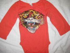 ED HARDY baby boys girls tiger one piece shirt top long sleeved top outfit NEW