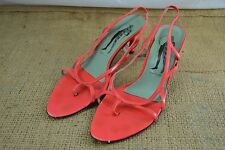 BELLE by SIGERSON MORRISON coral pink leather strappy heels sandals size 6.5