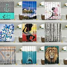 Various Bathroom Shower Curtain Sheer Waterproof Panel Home Decor 1.8MX1.8M