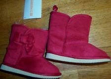 Boots Red Gymboree Bow Faux Fur Lined Winter Girl size 4  New