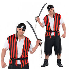 Ahoy Matey Adults Pirate Fancy Dress New Mens Buccaneer Costume Party Outfit