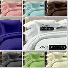 1000TC 100% Egyptian Cotton US King/Queen Size Hotel Scala Brand Striped Bedding