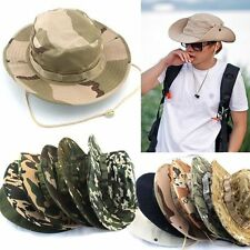 Bucket Hat New Hunting Boonie Cap Outdoor Camo Fishing Military Wide Brim Men