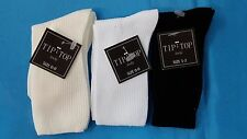 NEW Boys Tip Top Kids Nylon Crew Ivory White Black Formal Party Dress Socks