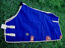 Canvas Duck Turnout Water Resistant Horse Winter Blanket Navy 2507