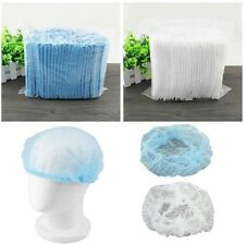 Disposable Bouffant Cap 100pc Pack Nurse Medical Home Hair Net Head Dust Cover