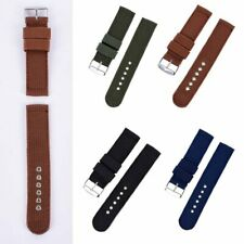 New Fashion Men Nylon Fabric Wrist Watch Band Canva Casual Buckle Strap 12-24mm