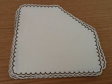 Gold Bordered Scalloped Edged Catering Square Coasters Vintage Style FREE P & P