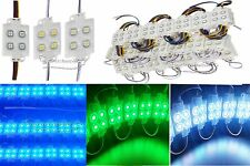 1-20 pcs 4LED White RGB Module light SMD 5050 IP 65 Waterproof LED Modules Sign