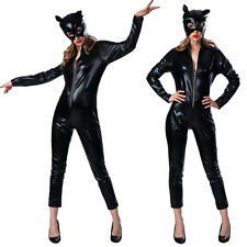 Sexy Women Halloween Catwoman Jumpsuit Uniform Costume Cosplay Party Outfits