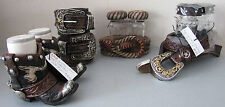 Western Decor Salt/Pepper-Container-Candle Holder-Nite Lites Book Ends and More