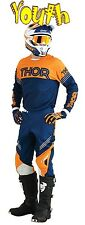 THOR Phase Kit YOUTH HYPERION NAVY ORANGE 2016 MOTOCROSS ENDURO JERSEY & PANT
