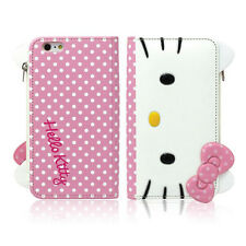 Hello Kitty Galaxy Note 5,4,3 Case Wallet Cover Coin Purse Mirror Clutch 3Colors