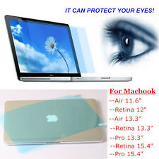 Blue Transparent Clear Eye-protection Screen Protector For Apple Macbook Mac Hot