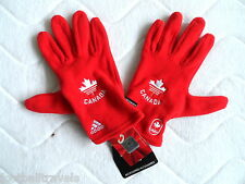 MEDIUM OFFICIAL ADIDAS TEAM CANADA OLYMPICS TEAM GLOVES UNISEX Mens Womens