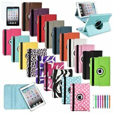 360 Leather Case Cover+LCD Film+Stylus For iPad Mini 1 2 3 Retina Display