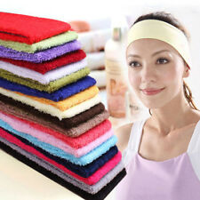 Women Sweatband Multi Terry Cloth Cotton Headbands Yoga/Gym/Sports Sweatbands