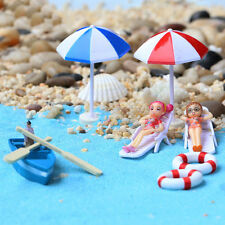 Miniature Beach Chair Umbrella Boat Anchor Plants Fairy Home Garden Decoration