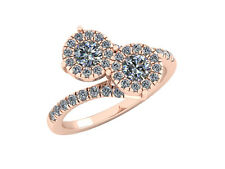 0.55Ct Round Brilliant Diamond Forever Us Bridal Engagement Ring 18k Gold F VS1