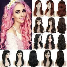 Super Fashion Long Curly Straight Full Head Wigs Cosplay Party Daily Fancy Dress