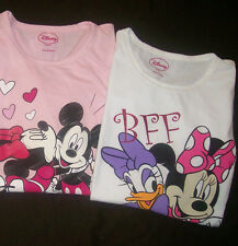 DISNEY MINNIE / MICKEY MOUSE or DAISY DUCK LONG SLEEVES SHIRT Valentine's day