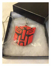 Transformers Red Autobot Pendant Necklace - Sci-fi Collectable - New Gift Boxed