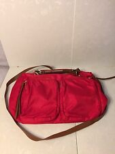"""STEVE MADDEN"" WOMENS NEW NYLON RED SATCHEL TOTE HANDBAG PURSE"