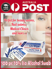 100 UNITS (1 box) ALCOHOL WIPES SKIN CLEANSING  LIV WIPE 70% IPA with tracking