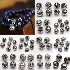 Lot 10/20 Pcs Silver Plated Loose Spacer Beads Charms Jewelry Crafts Making DIY