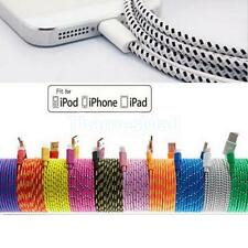 USB Data Sync Charger Braided Fabric Cable Cord For iPhone6 Plus 5S 6s 3/6/10FT