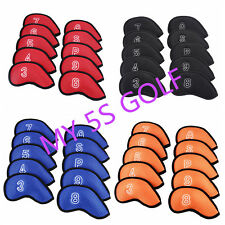 10Pcs Golf Club Iron Head Covers Protector Headcover Meshy Iron Cover 4 Colors