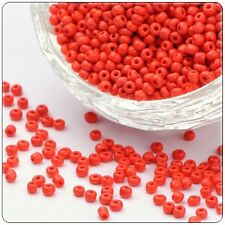 11/0 Glass Seed Beads - Red Opaque - Approx 2mm 75g/150g Packs, Craft