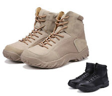 Mens Breathe Climbing Desert Hiking Tactical Military Work Ankle Leather Boots