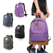 Vintage Men's Canvas Backpack Rucksack Laptop School Shoulder Travel Camping Bag