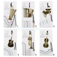 Metal Musical Instrument Bookmark with Tassel Promotion Birthday Christmas Gift