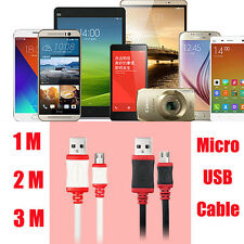 1/2/3M Over 2A Micro USB Data Sync Fast Thick Charger Charging Cable For Phones