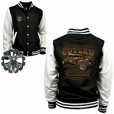 Varsity Jacket Hot Rod College Baseball-Style Classic car Rockabilly-Kustom 1247