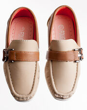 NEW Kids Khaki Tan Formal Dress Shoe Loafers for Toddlers and Boys