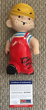JAY NORTH Signed DENNIS THE MENACE DOLL Rubber TV SHOW 1959 Hall Syndicate PSA