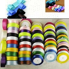Various Sizes Colors Satin Ribbon For Wedding Party Decoration Sewing DIY Craft