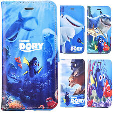 For iPhone PU leather wallet case flip cover protect skins Cartoon Finding Dory