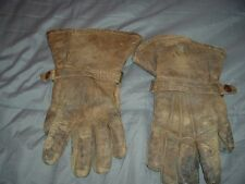 PAIR OF VINTAGE 1930'S MOTORCYCLE GLOVES BY SPALDING