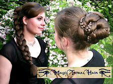 BRAID CUSTOM COLOR Magic Tribal Hair Piece RENFAIR COSTUME Medieval Larp GOTHIC